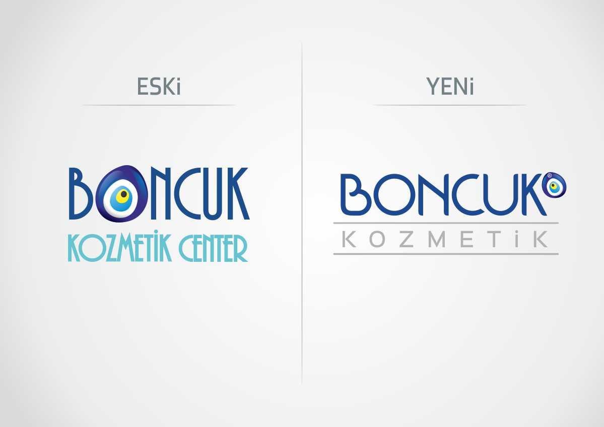 boncuk kozmetik logo revizyonu