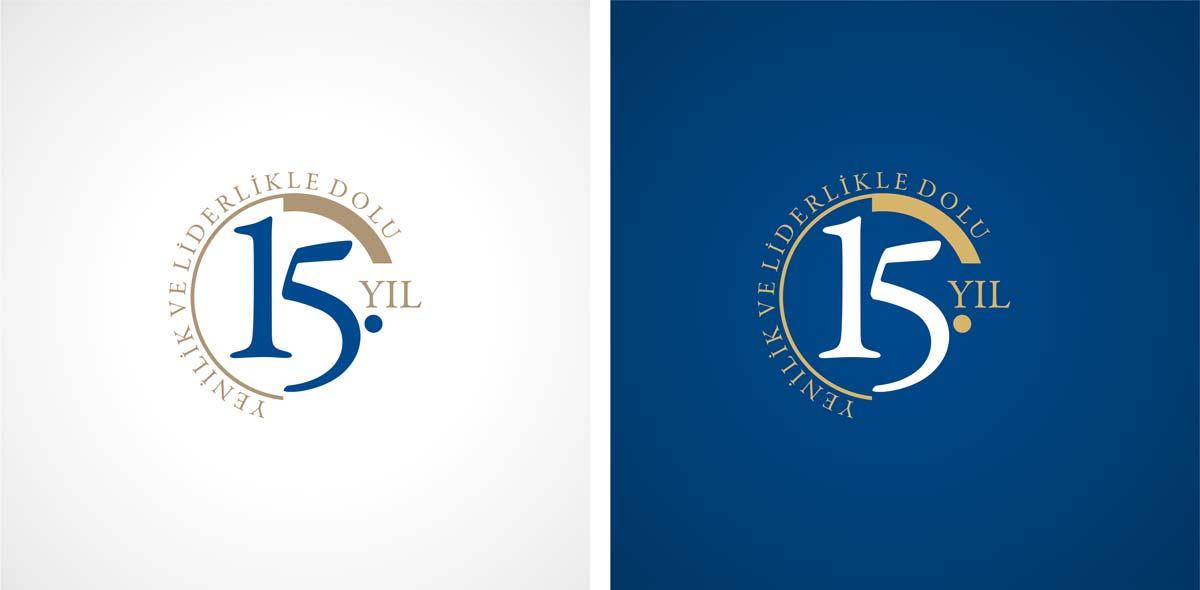 ed yapi 15 yil logosu tasarimi