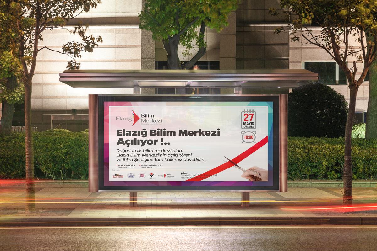 elazig bilim merkezi billboard
