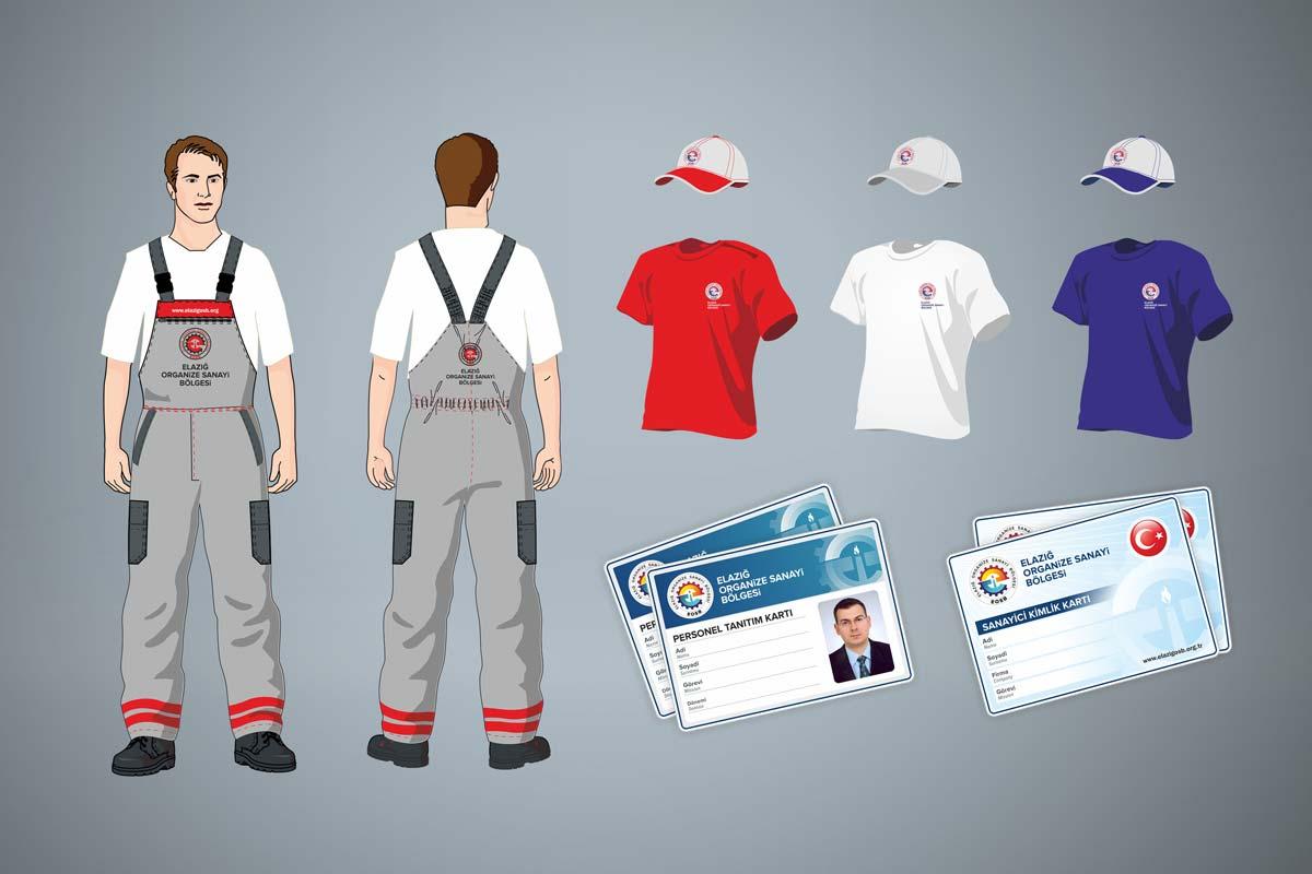 elazig organize sanayi bolgesi personel kiyafetleri ve personel kimlik kartlari tasarimi