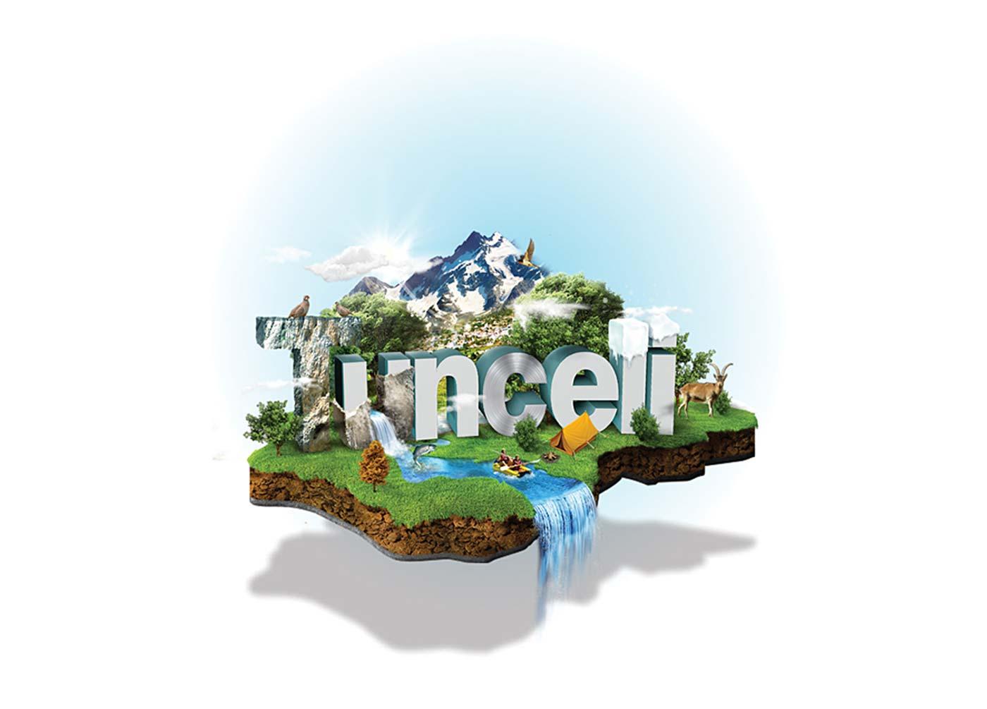tunceli turizm illustrasyon