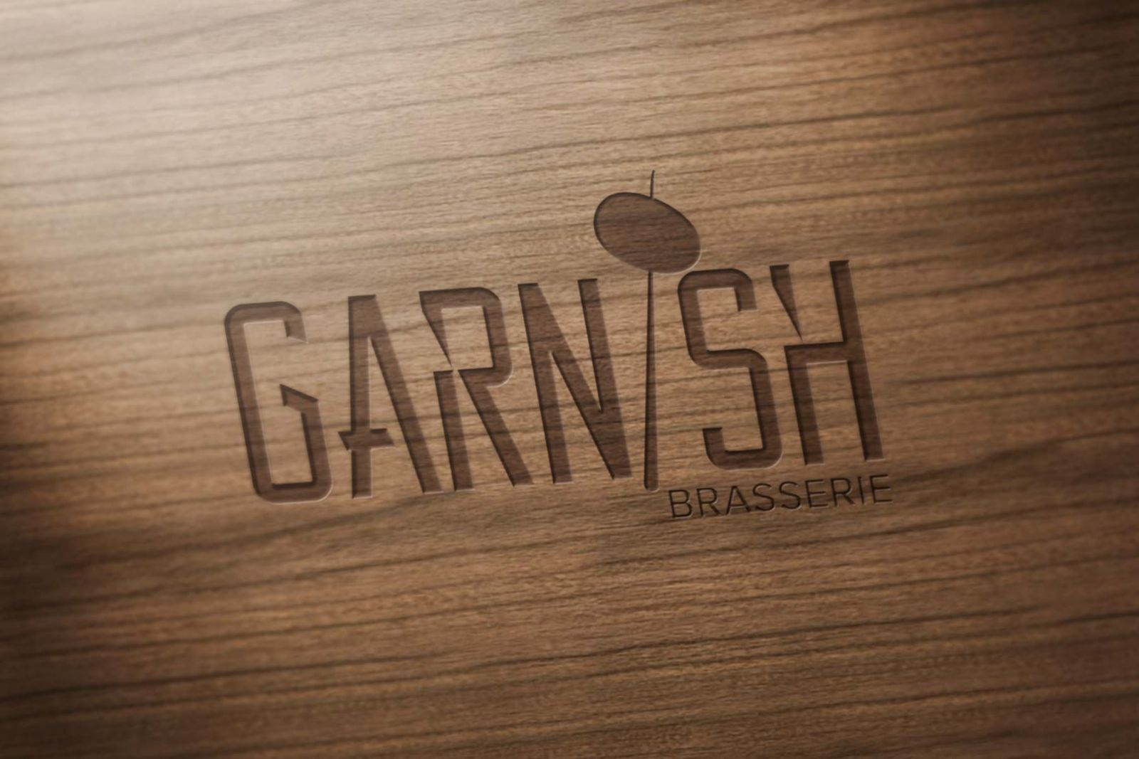 garnish logo ahsap oyma