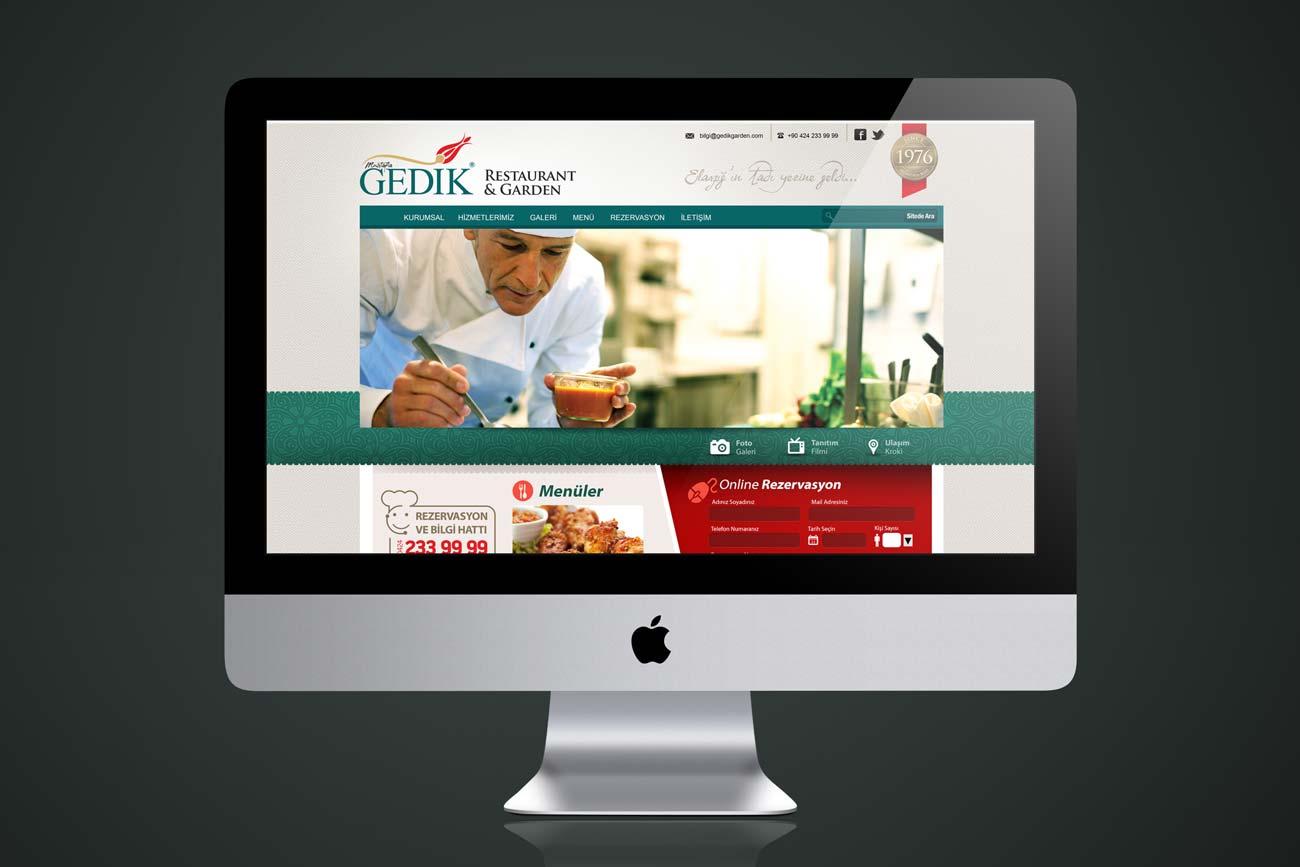 gedik restaurant web sitesi