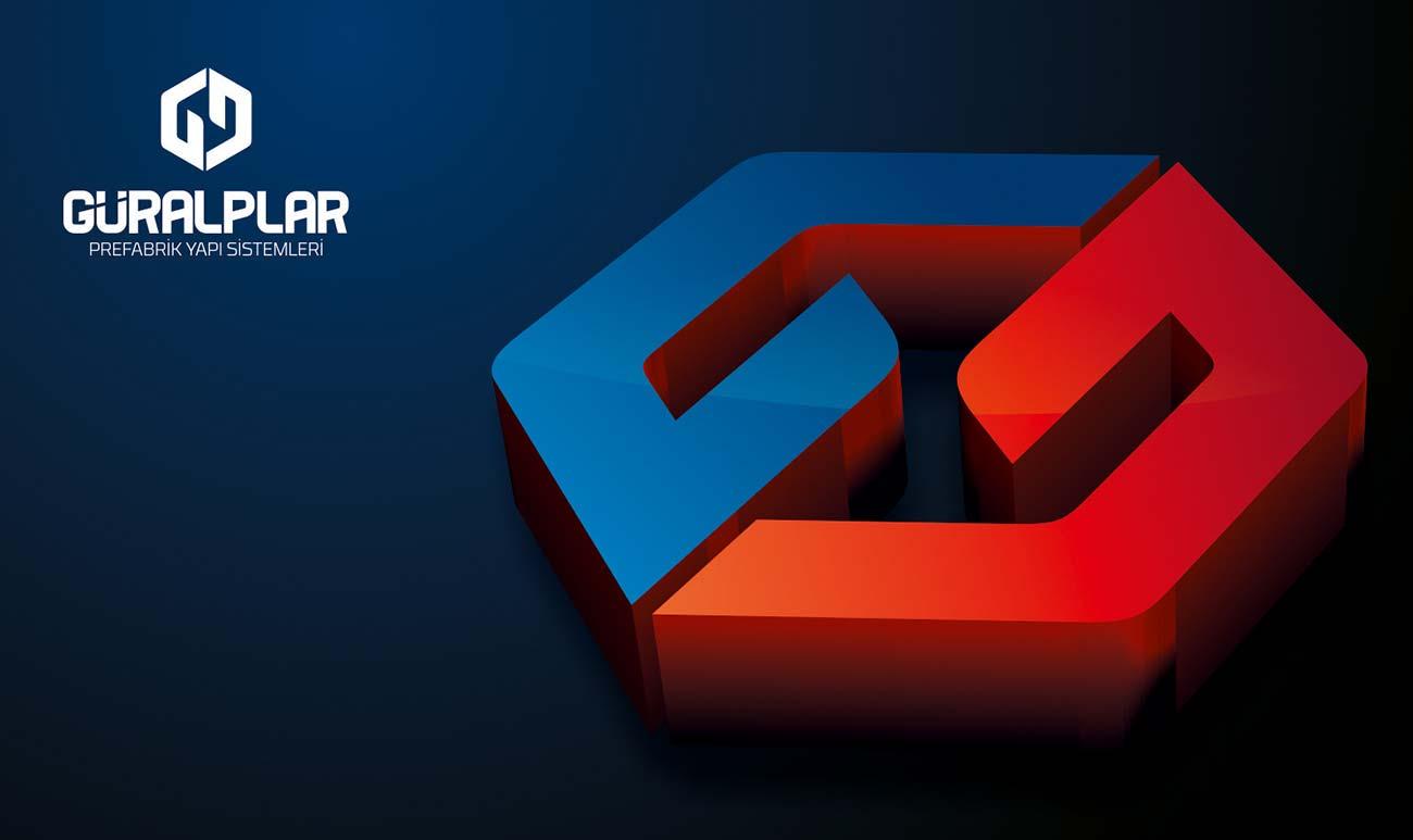 guralplar prefabrik logo 3d