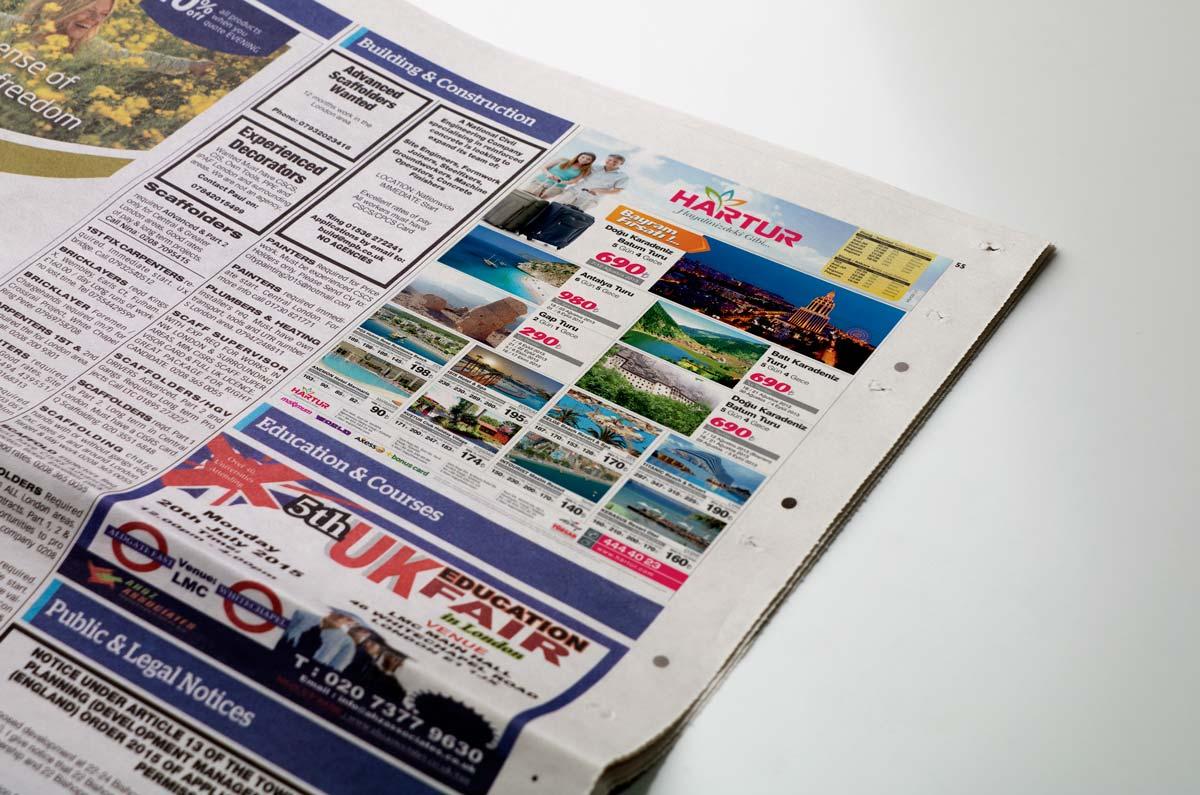 hartur elazig gazete reklam tasarimi