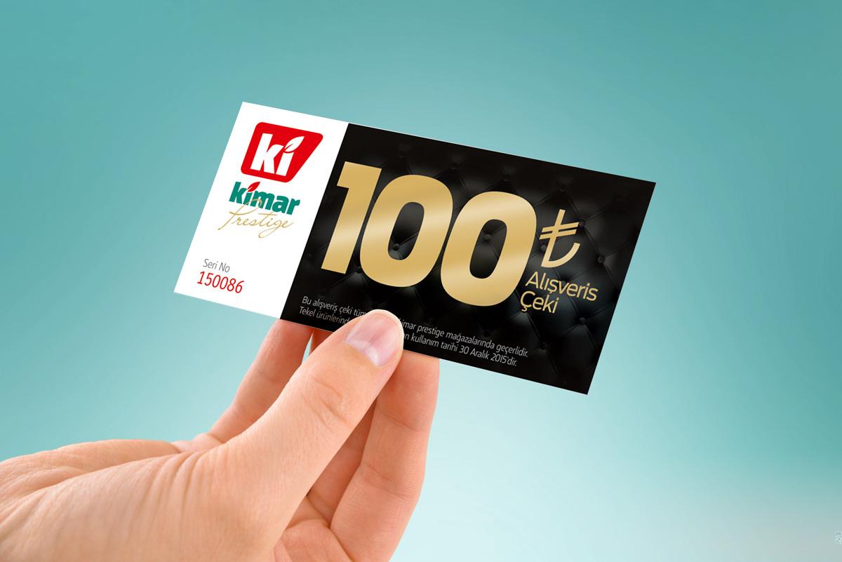 kimar prestige market alisveris ceki 100tl 2015